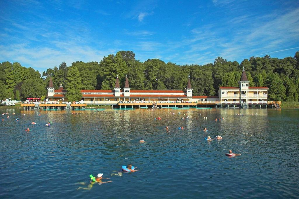 Lake Héviz thermal lake in Hungary