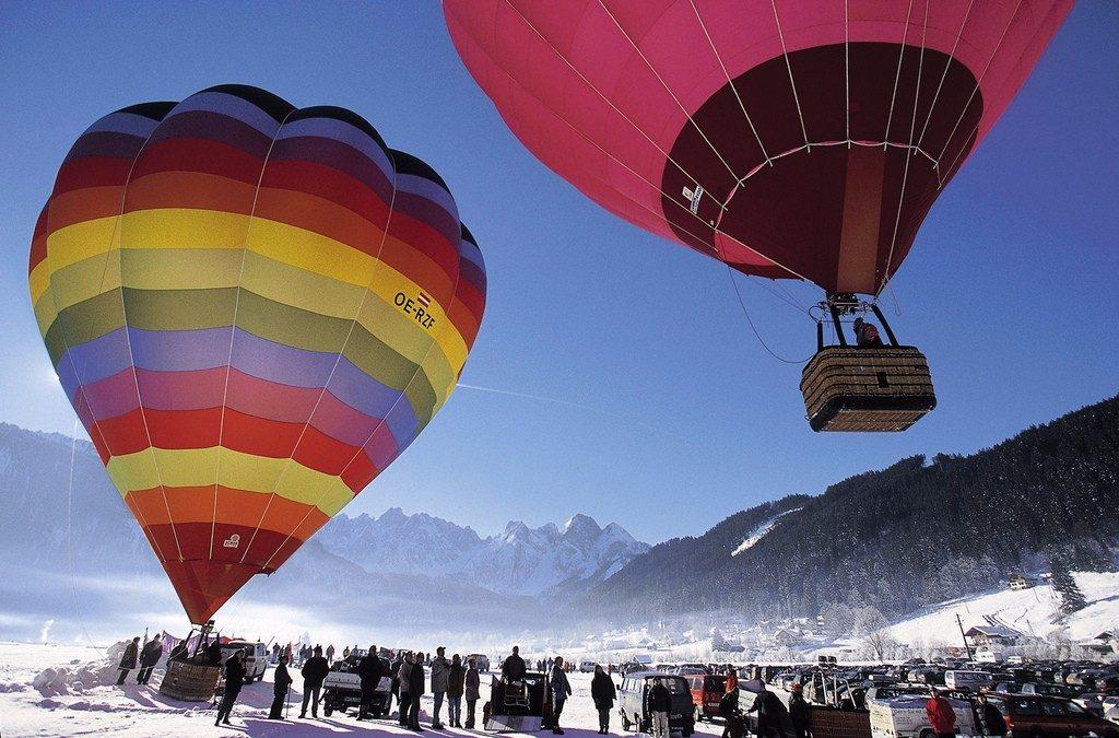 Ballooning near Gosau, Upper Austria | © Österreich Werbung/Himsl L.