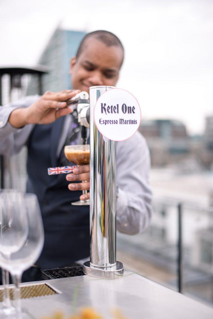 Nitro Espresso Martini machine at Aviary | © Roche Comms/Aviary
