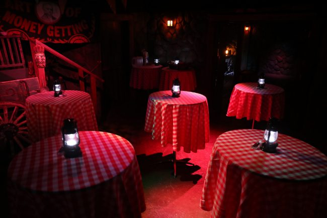 Bistro tables at the Black Rat Café | Courtesy of The San Francisco Dungeon