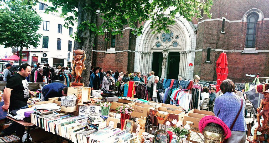 The flea market on the Dageraadplaats | © Live in Belgium / Flickr