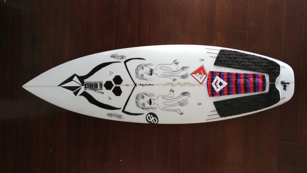 One of Mauro Diaz's surfboards. | © Michael LoRé/Culture Trip