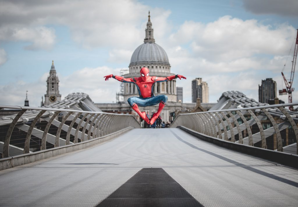 Donning the world-famous Spidey suit, Chris Silcox takes on London's iconic landmarks | © Josh Perrett