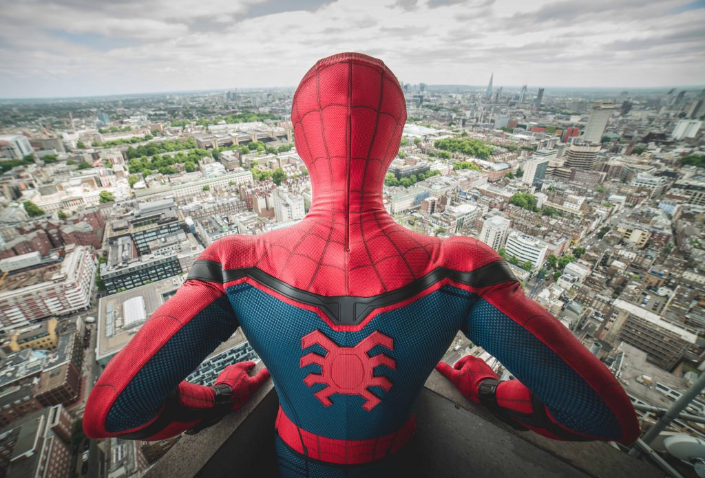 Spider-Man stunt double Chris Silcox surveys London ahead of the Spider-Man: Homecoming July 5 cinema release | © Josh Perrett
