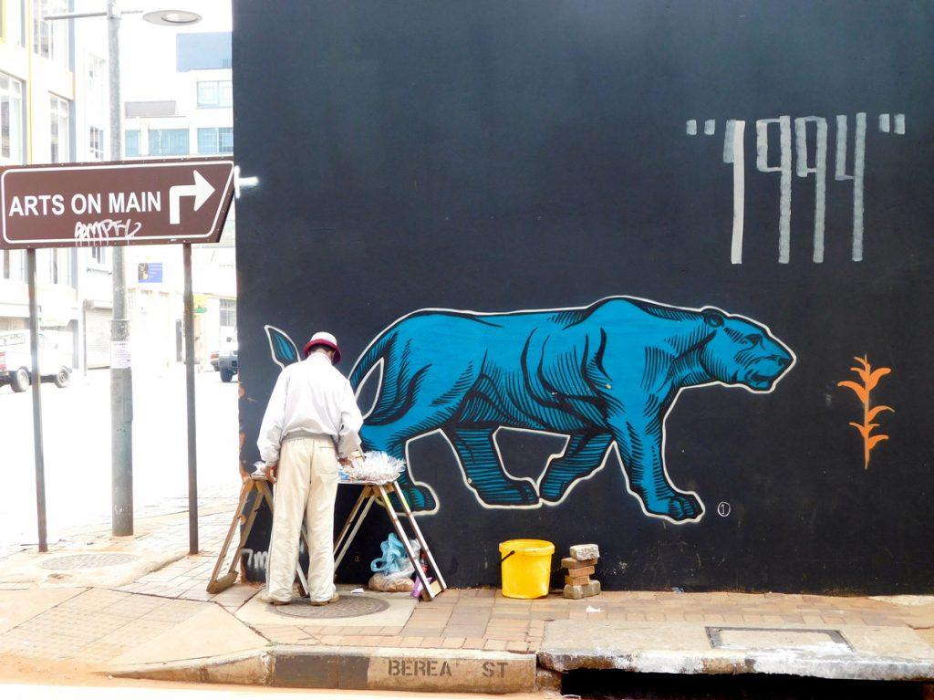 Street art panther