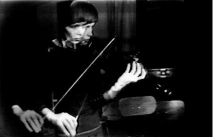 """Violin Power,"" Steina Vasulka, 1970-1978 | Courtesy of The Vasulka Chamber/The National Gallery of Iceland"