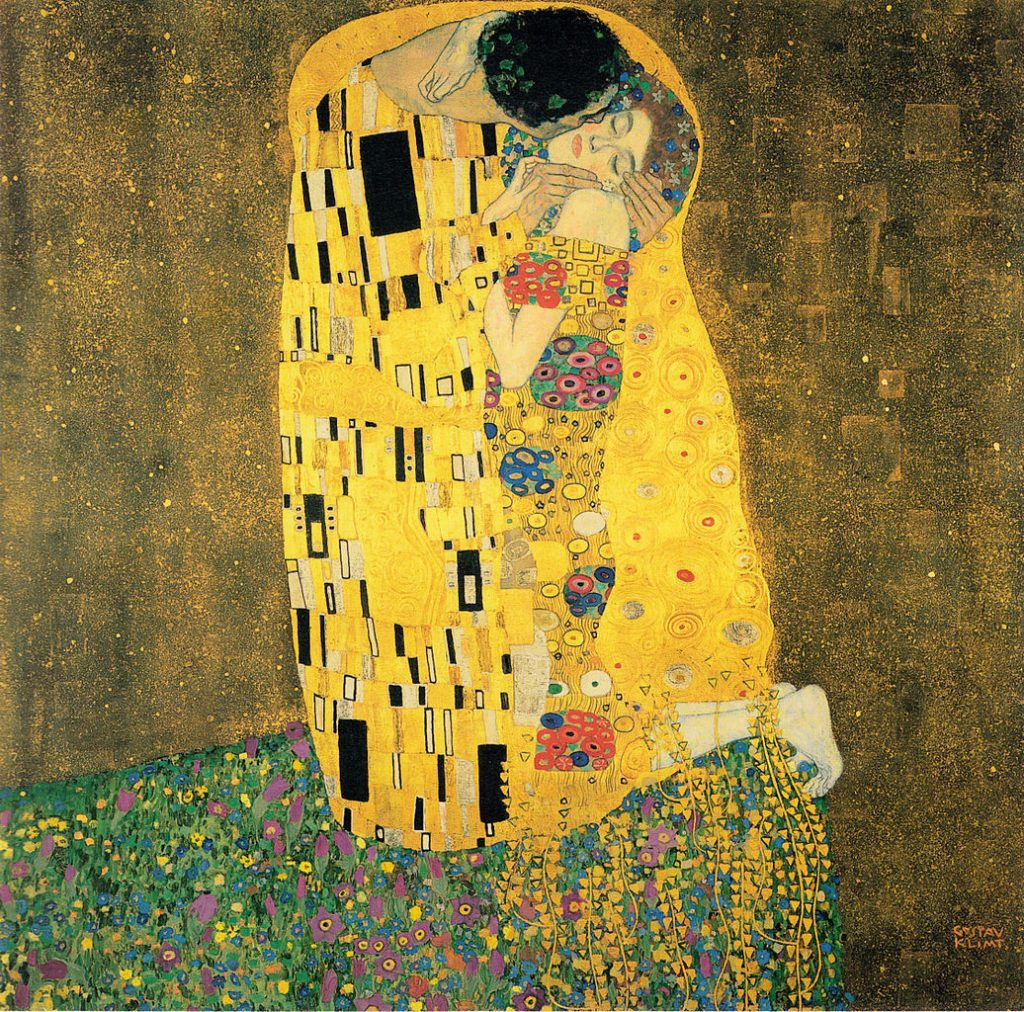 Gustav Klimt, 'The Kiss' (1908) | WikiCommons