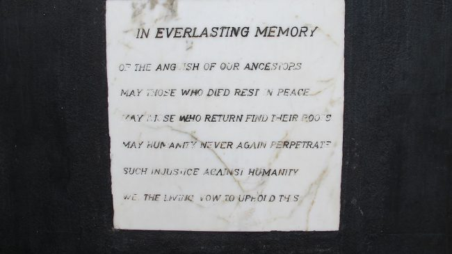 Elmina Castle Memorial Plaque