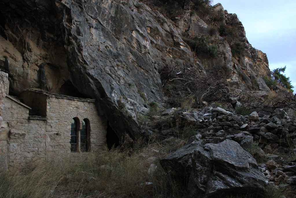 The Byzantine church in Daveli Cave, Penteli | © Emmanuel Eragne / Flickr