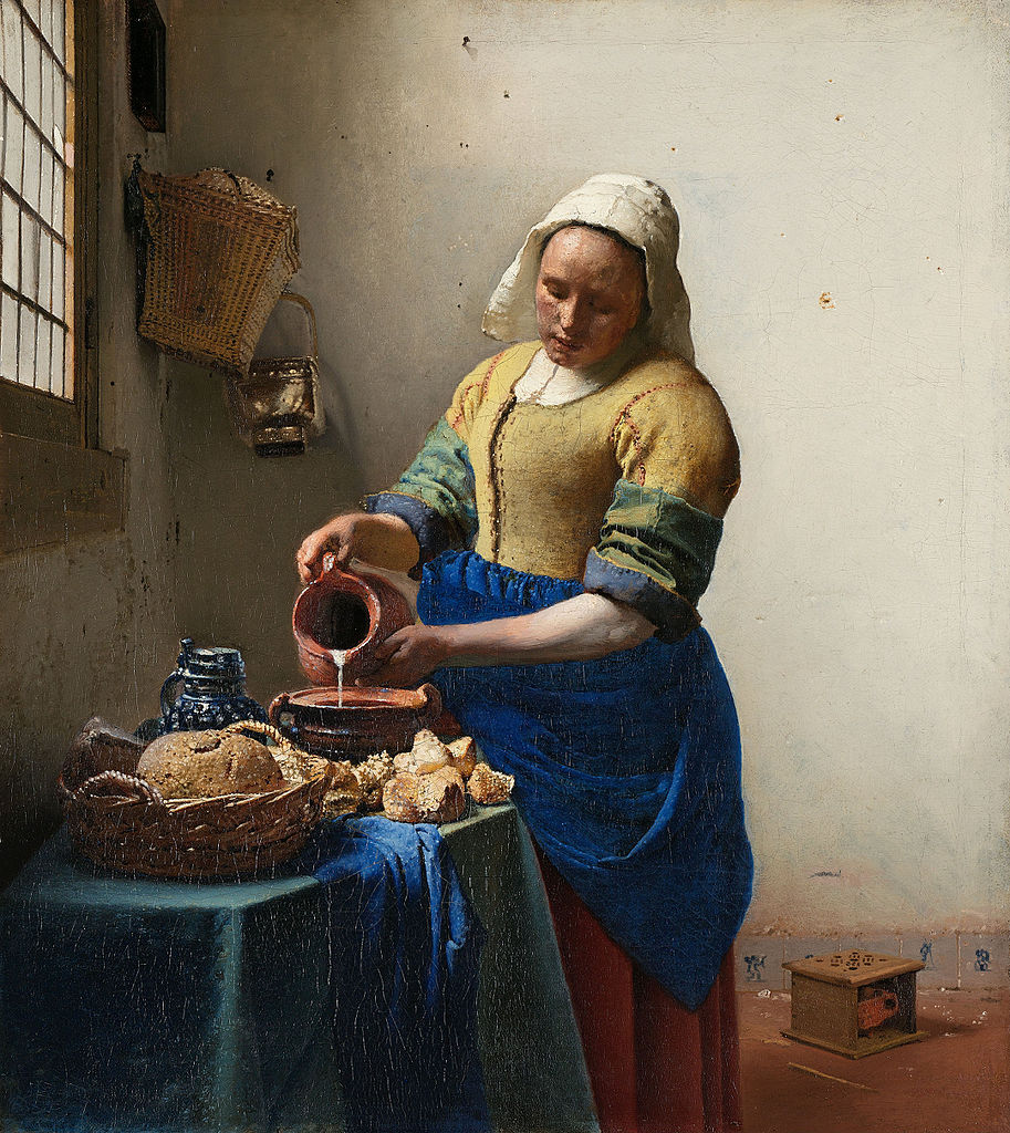 Johannes Vermeer, 'The Milkmaid' (1658) | Google Cultural Institute/WikiCommons