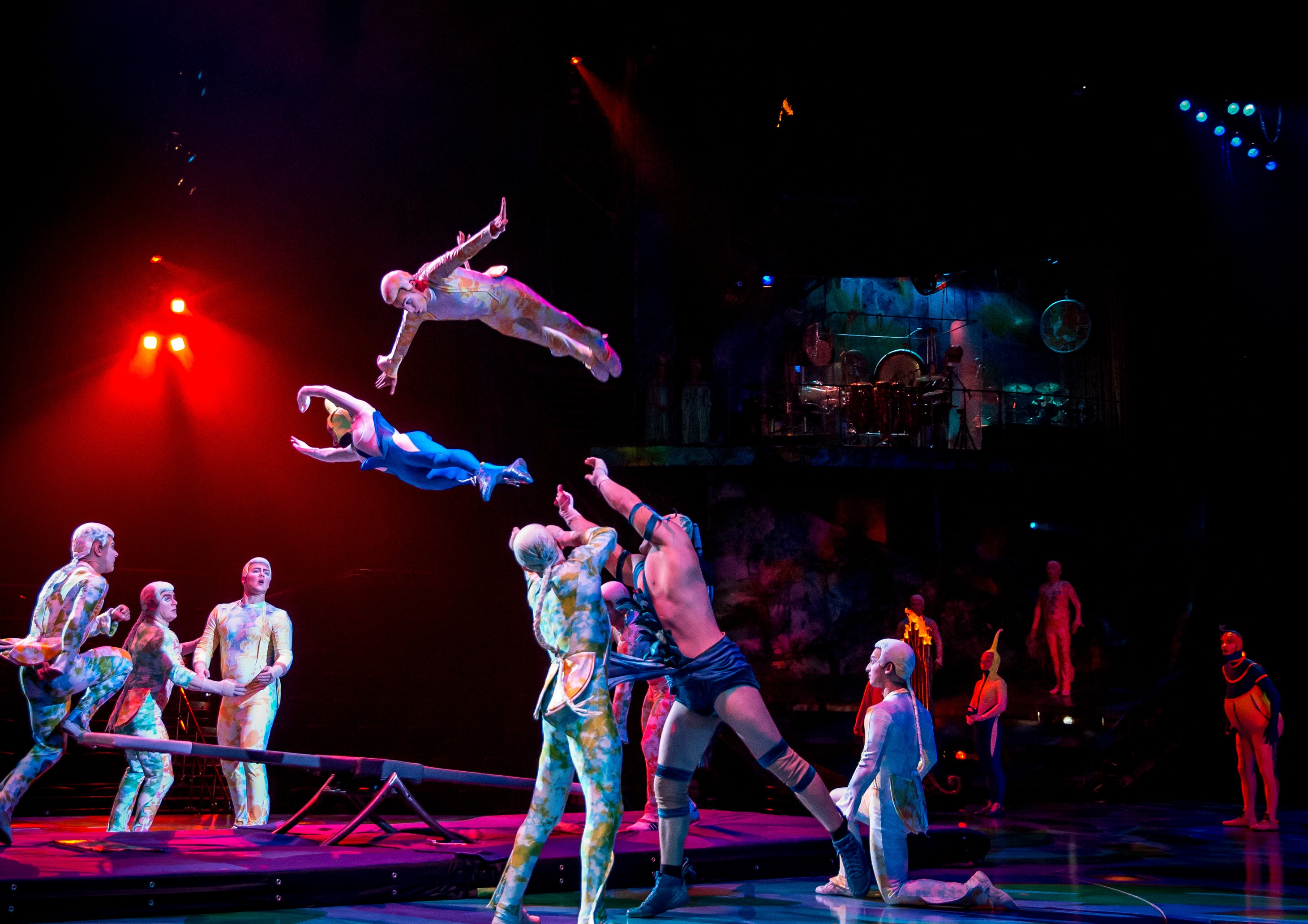 The teeterboard act in Mystère | Courtesy of Cirque du Soleil