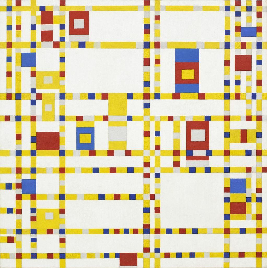 Piet Mondrian, 'Broadway Boogie Woogie' (1942) | WikiCommons