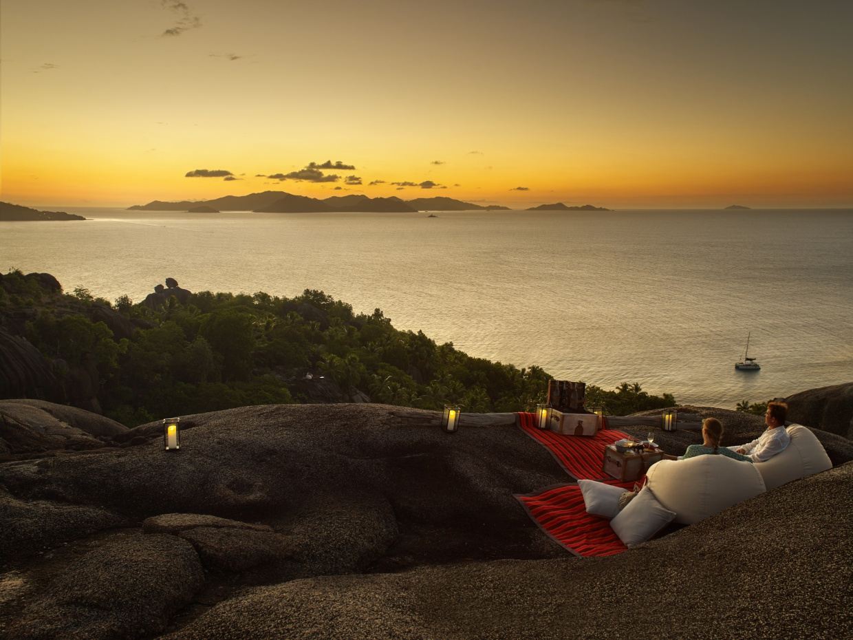 stunning places to watch the sunset in Seychelles - six senses zil pasyon