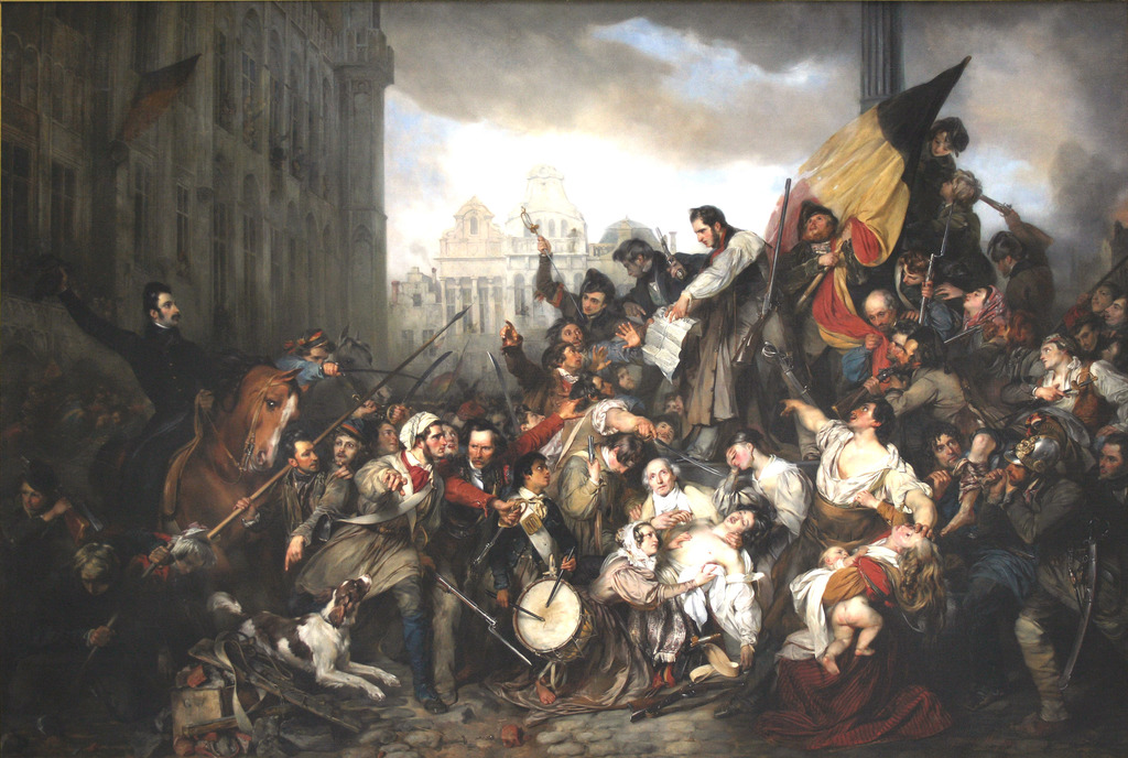 The September Days in the Belgian Revolution, depicted by painter Gustaf Wappers | public domain