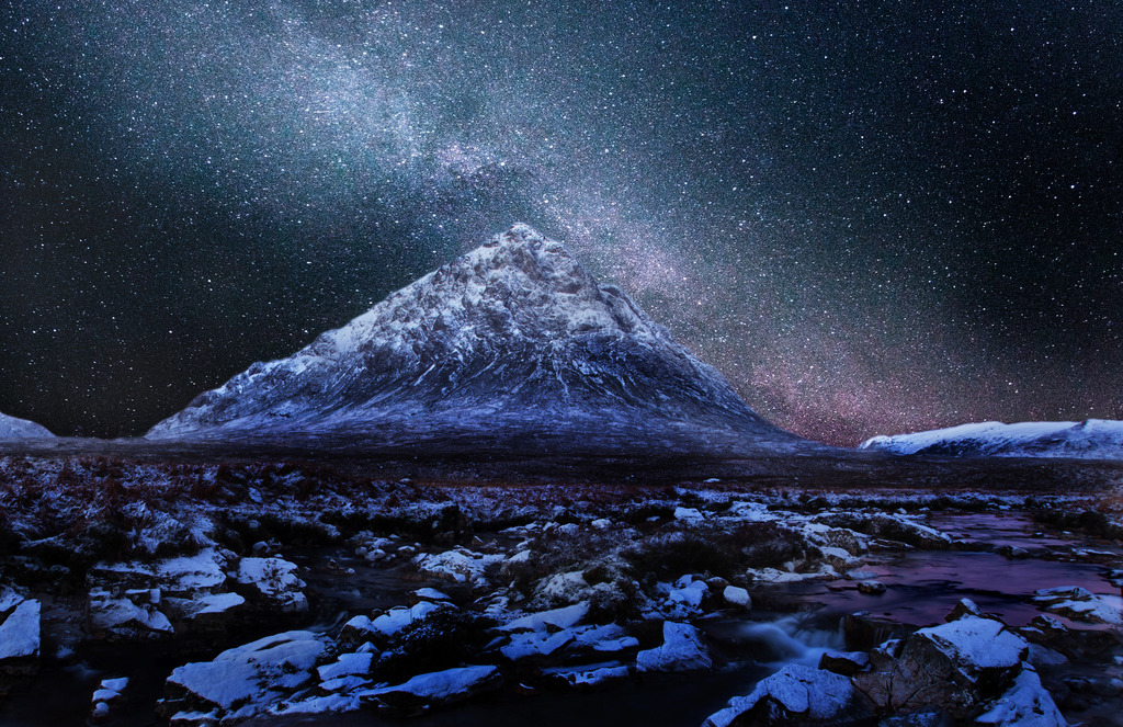 Milky Way Over Buachaille Etive Mhor