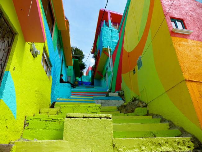 El Macro Mural Barrio de Palmitas, Pachuca, Mexico | © Cordelia Persen