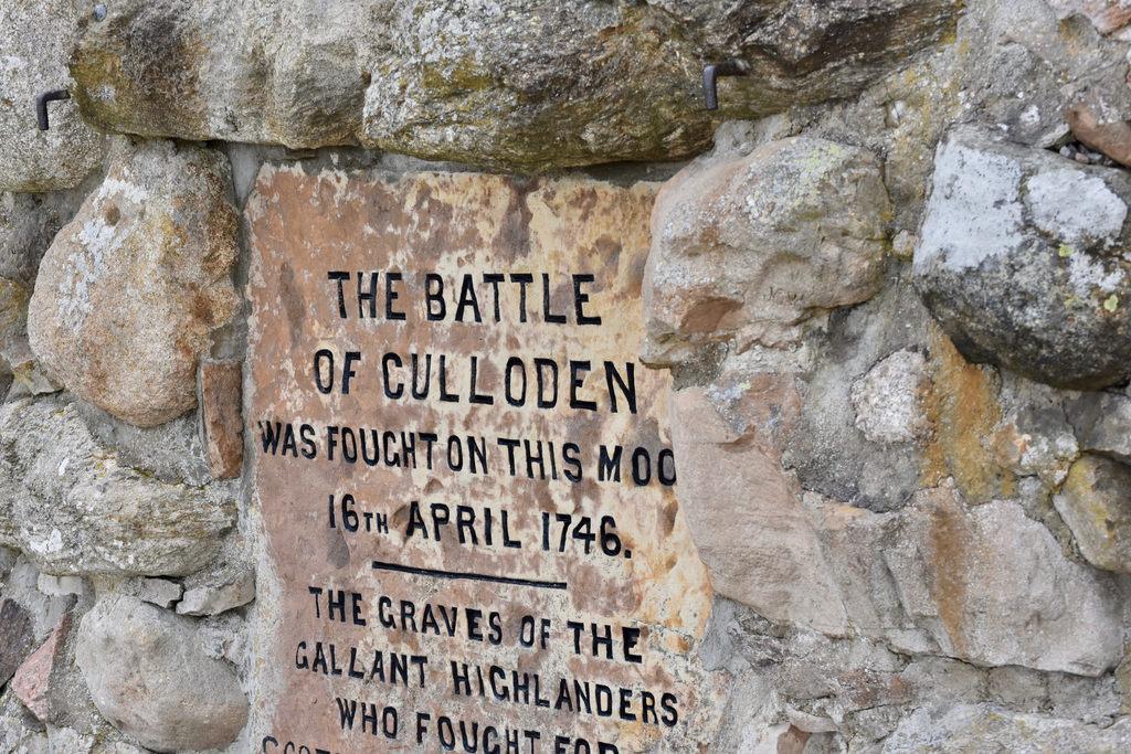 Battle Of Culloden Plaque