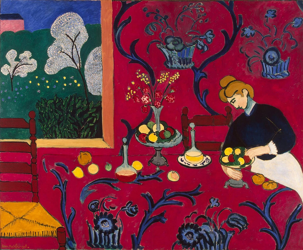Henri Matisse, The Red Room (1908) | Photo by Gandalf's Gallery/Flickr