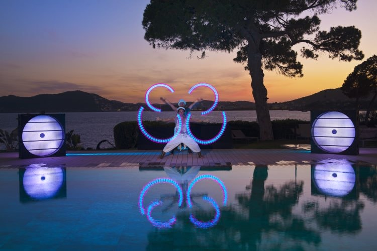 LED Light Show at ME Ibiza