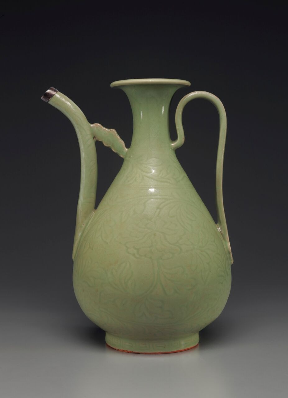 A carved Longquan celadon ewer. Early Ming dynasty, late 14th/early 15th-century | © Christie's Images Limited