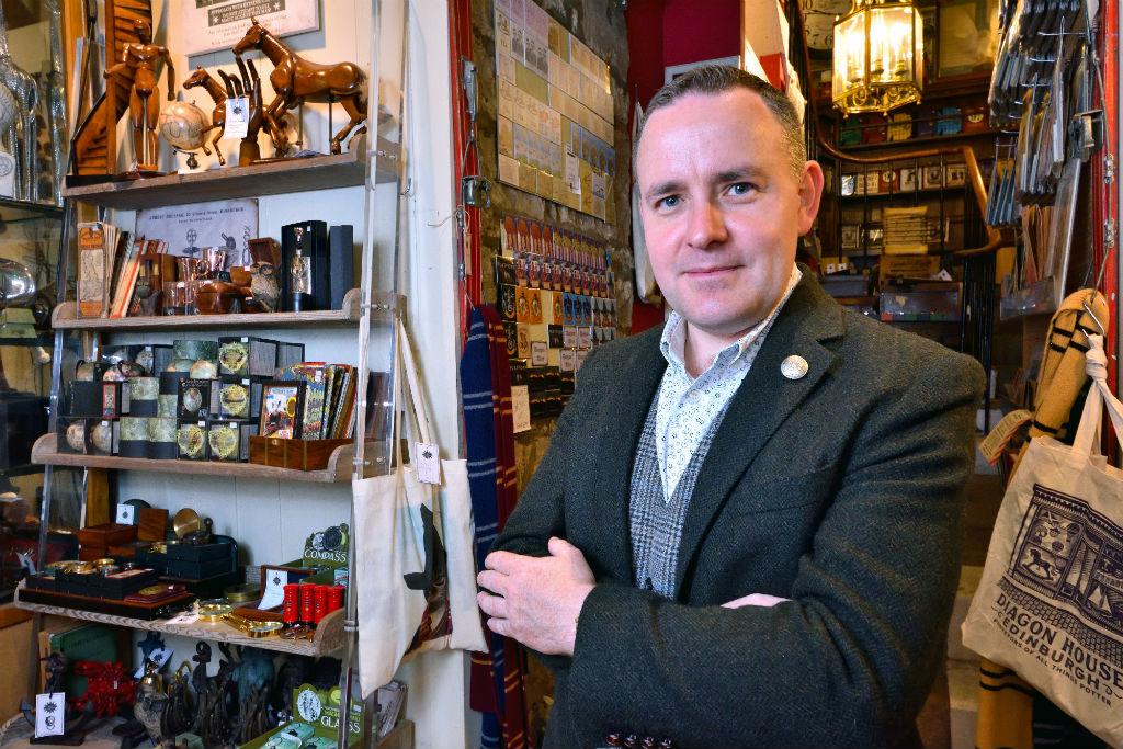 Andrew McRae, Proprietor of Diagon House at 40 Victoria St, Edinburgh