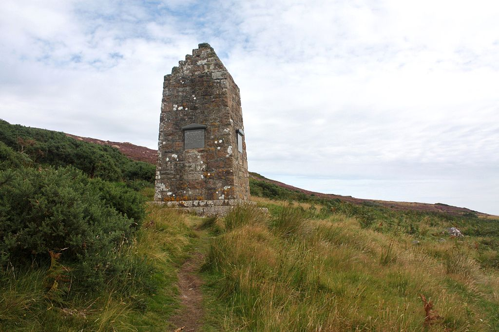 Monument In Badbea, A Former Clearance Village In Caithness, Scotland