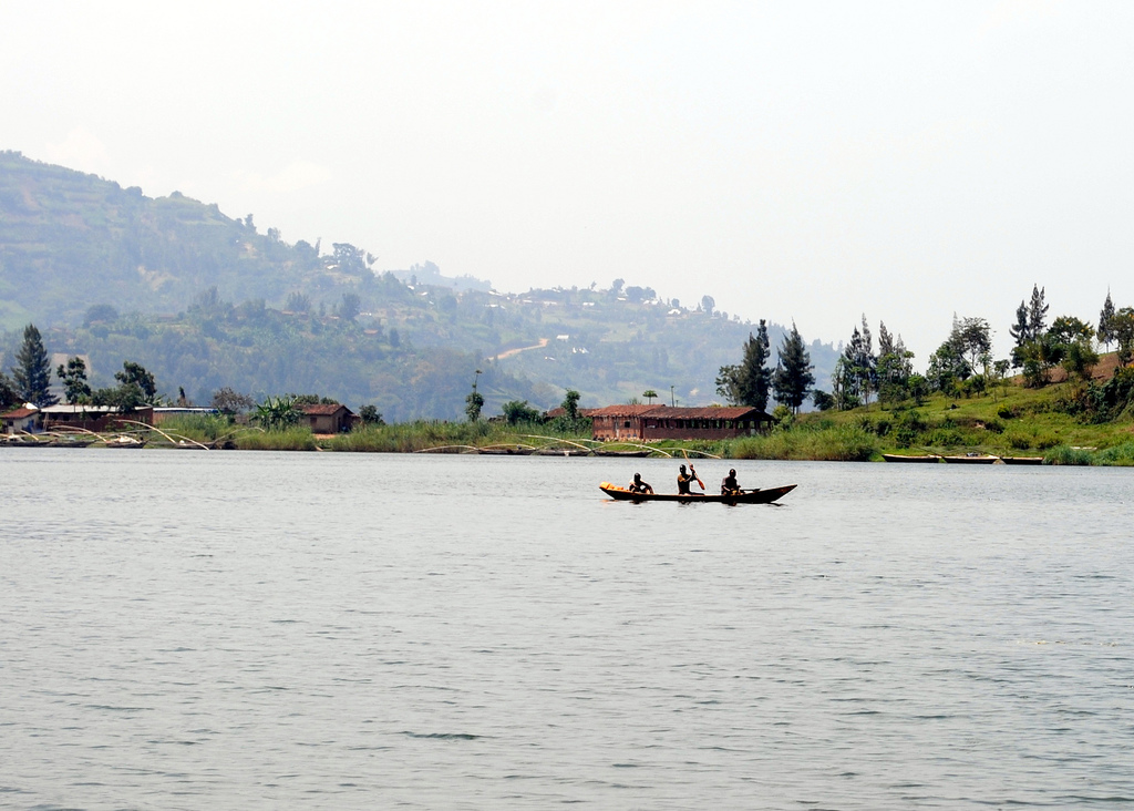 Canoe on Lake Kivu