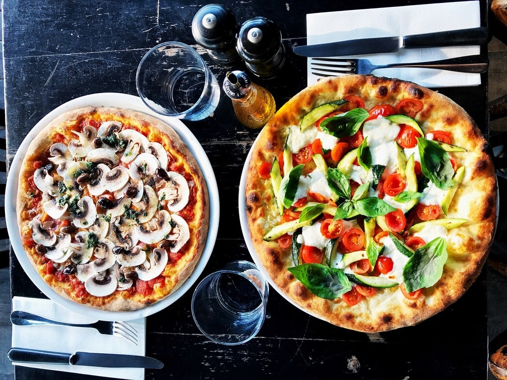 Pizzas at Grazie │ Courtesy of Grazie
