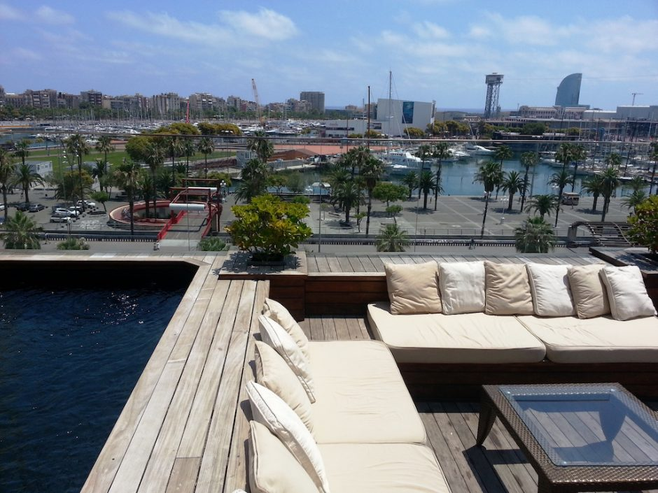 The rooftop pool overlooks the harbour Courtesy of Hotel Duquesa de Cardona