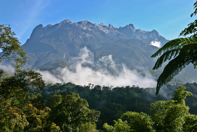 Clouds circling the base of Mount Kinabalu | © Phil MacD Photography/Shutterstock