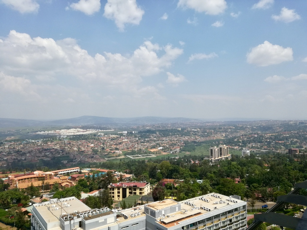 View from the Ubumwe Grande Hotel