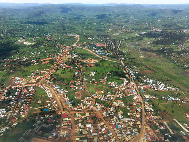 View of Kigali from above