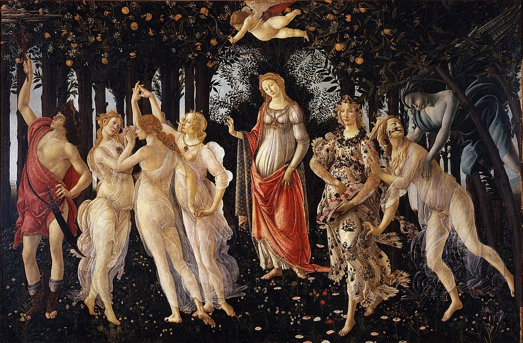 Sandro Botticelli, Primavera (1482) | Source: Google Art Project/WikiCommons