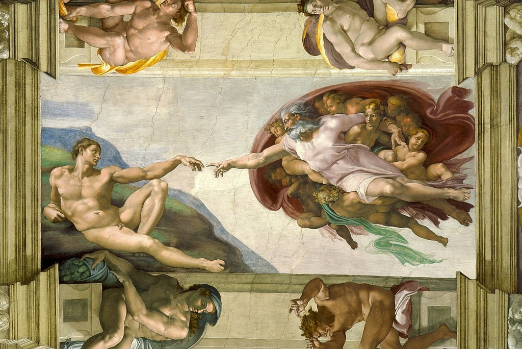 Michelangelo, The Creation of Adam (c. 1511) | Photo by Artworksforever/WikiCommons