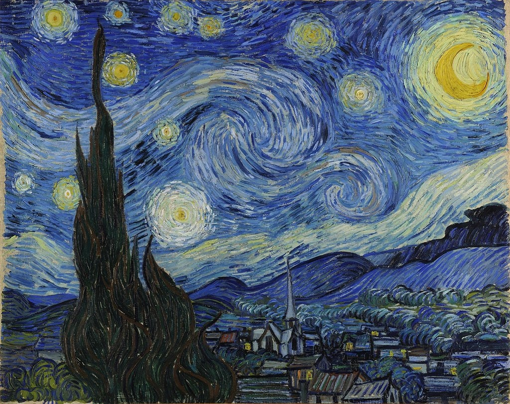 Vincent van Gogh, The Starry Night (1889) | Source: Google Cultural Institute/WikiCommons
