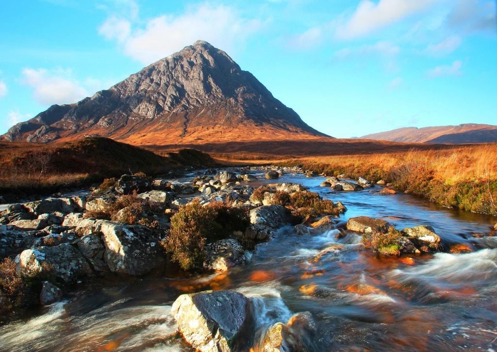 Buachaille Etive Mòr & River Coupall, Scottish Highlands