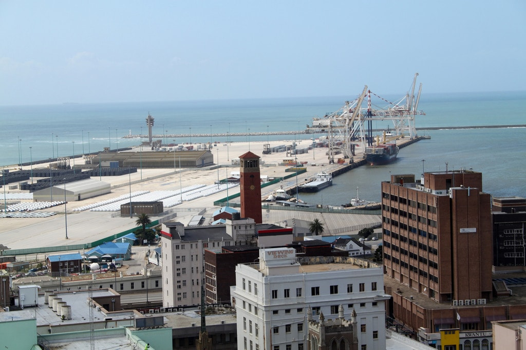 Port Elizabeth harbour with Campanile