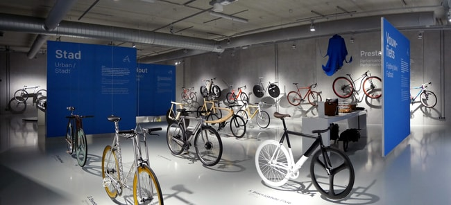 Exhibition View of Fiets-Bike-Fahrrad, design on two wheels, Cube Design Museum | Courtesy of Cube Design Museum