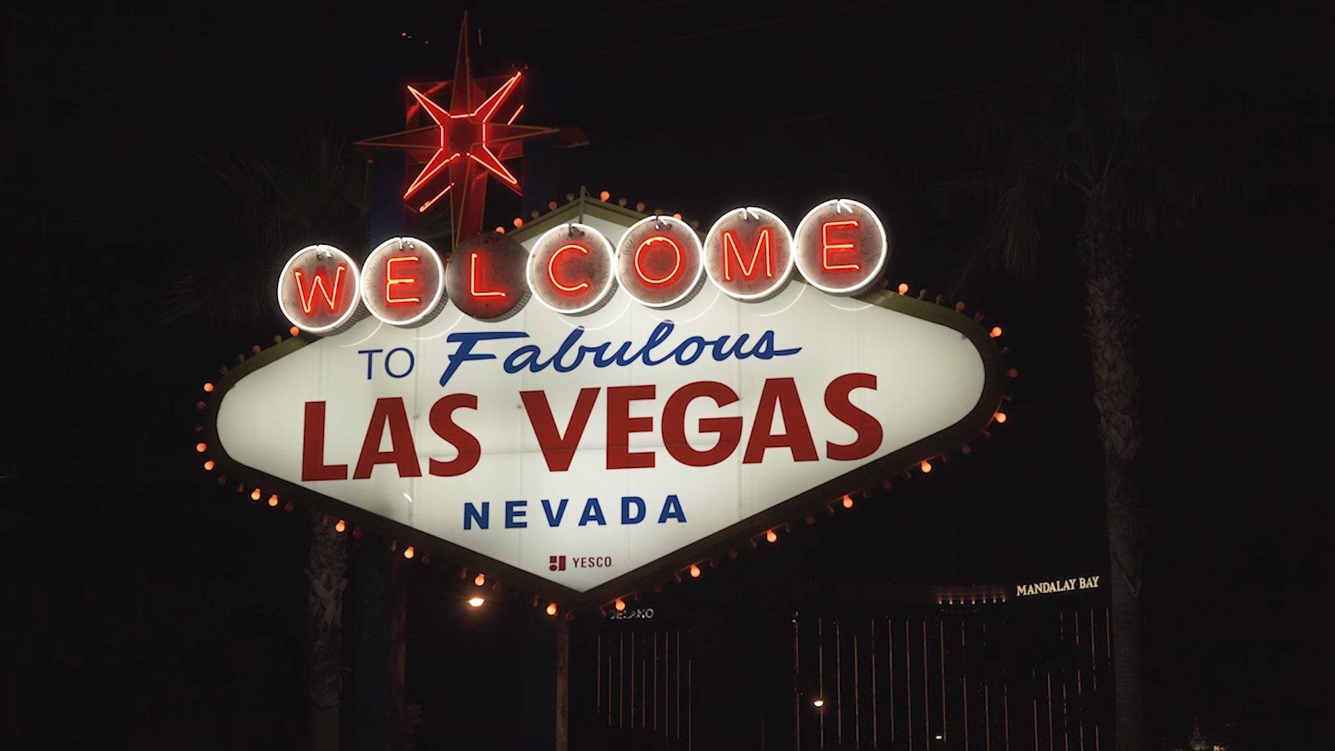 Stock footage welcome to fabulous las vegas sign with flashing lights - Welcome To Fabulous Las Vegas Everything You Need To Know About The Sign