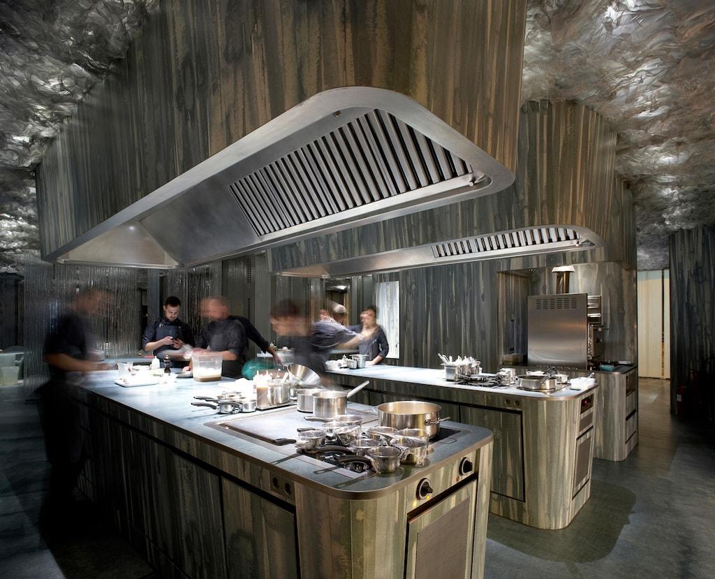 The Enigma kitchen Photo by Pepo Seguro Courtesy of Enigma