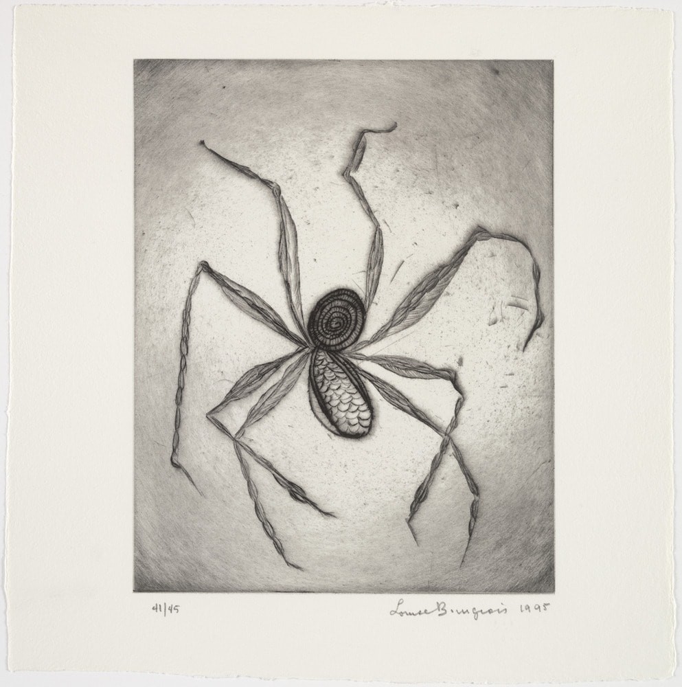 Louise Bourgeois (1911–2010). Plate 8 of 9 from the illustrated book Ode à Ma Mère. 1995. The Museum of Modern Art, New York. Gift of the artist. © 2017 The Easton Foundation/Licensed by VAGA, NY.
