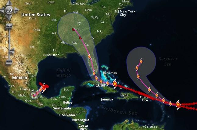 Hurricane Irma storm path | © Cayoba/Flickr