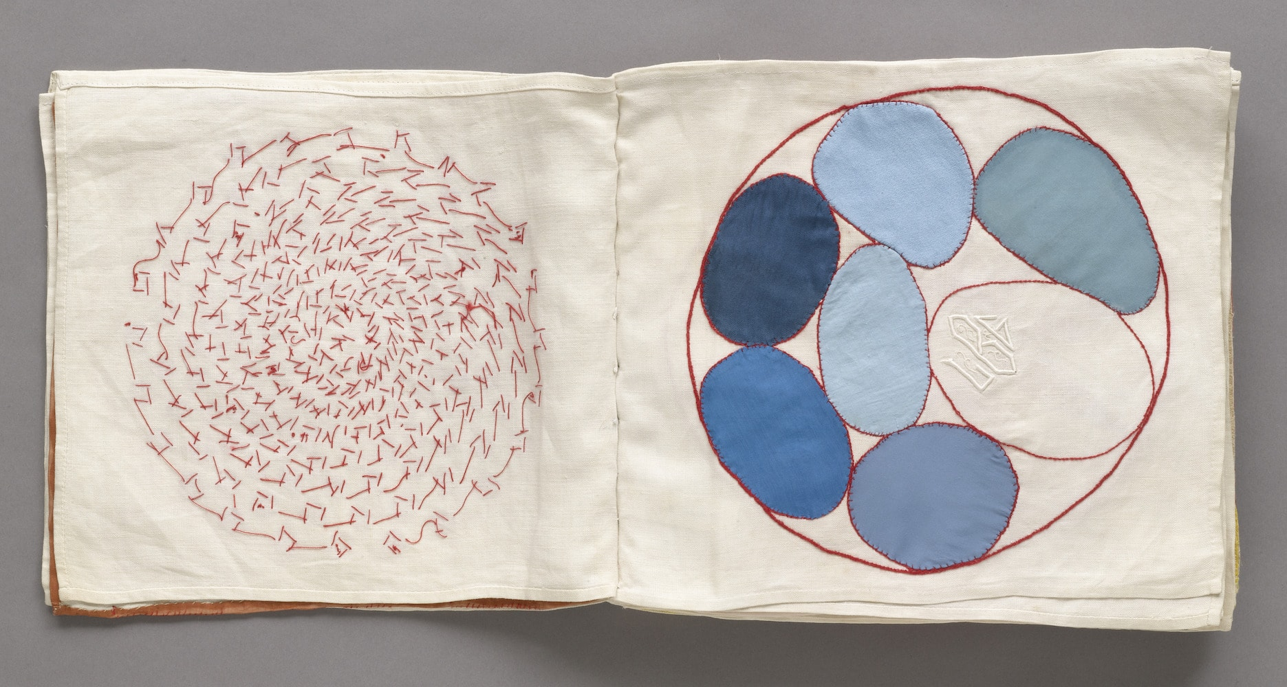 Louise Bourgeois (1911–2010). No. 4 of 34 from the fabric illustrated book Ode à l'Oubli. 2002. The Museum of Modern Art, New York. Gift of the artist. © 2017 The Easton Foundation/Licensed by VAGA, NY.