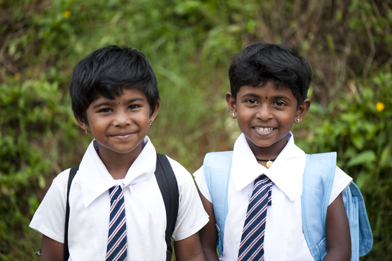 Sri Lanka school children