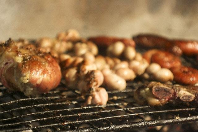 Achuras (beef organs on the grill), Uruguay