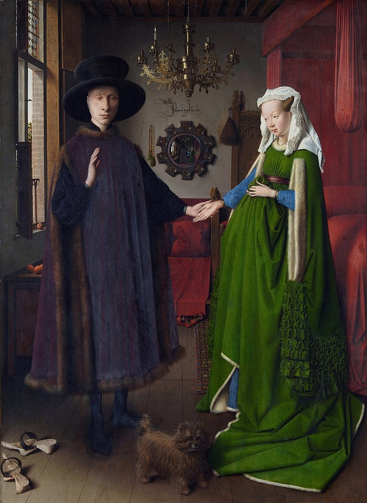 Jan van Eyck, Portrait of Giovanni (?) Arnolfini and his Wife (1434) | Courtesy of The National Gallery/WikiCommons