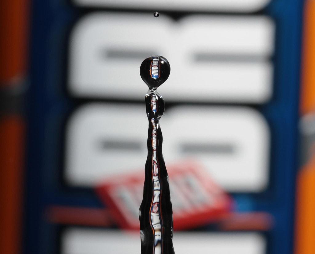 Irn Bru Through A Water Droplet
