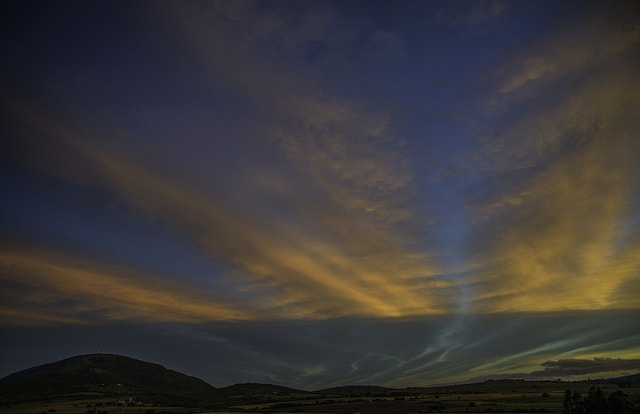 Sunset near Pan de Azucar hill, Maldonado, Uruguay
