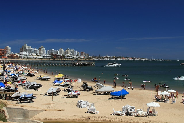The beach at Punta del Este, Maldonado, Uruguay