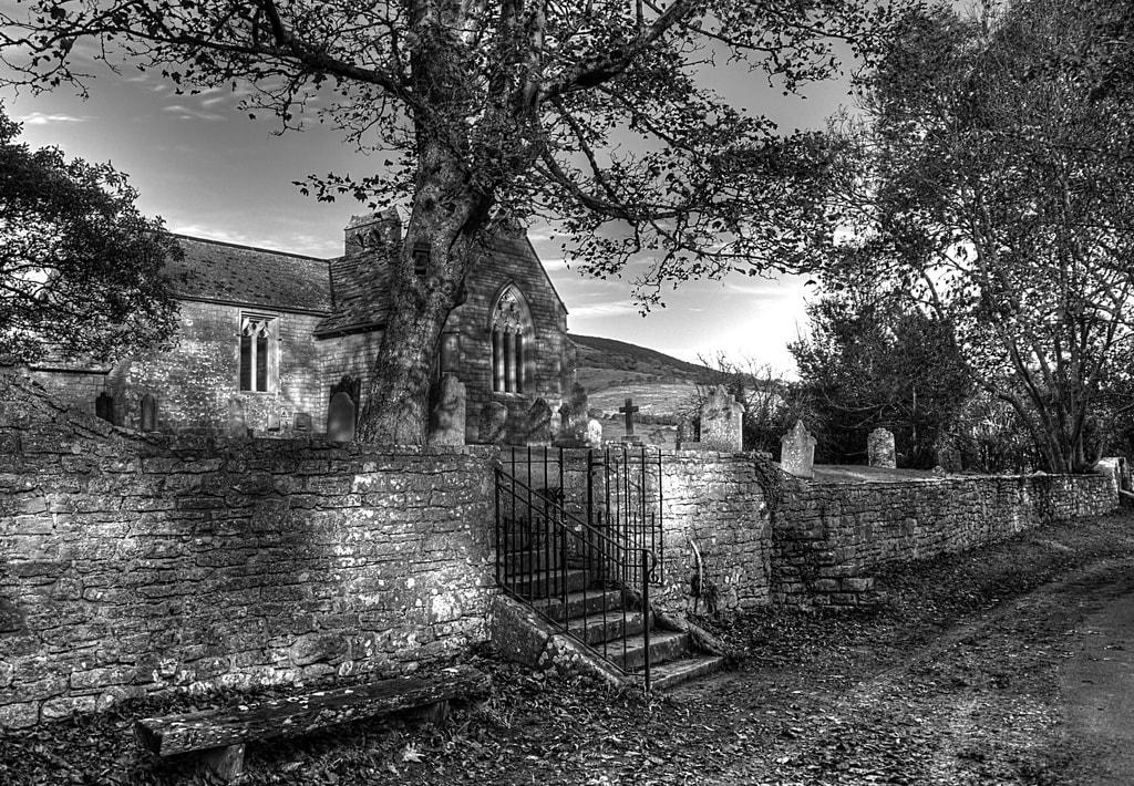 Abandoned civil parish church, Tyneham
